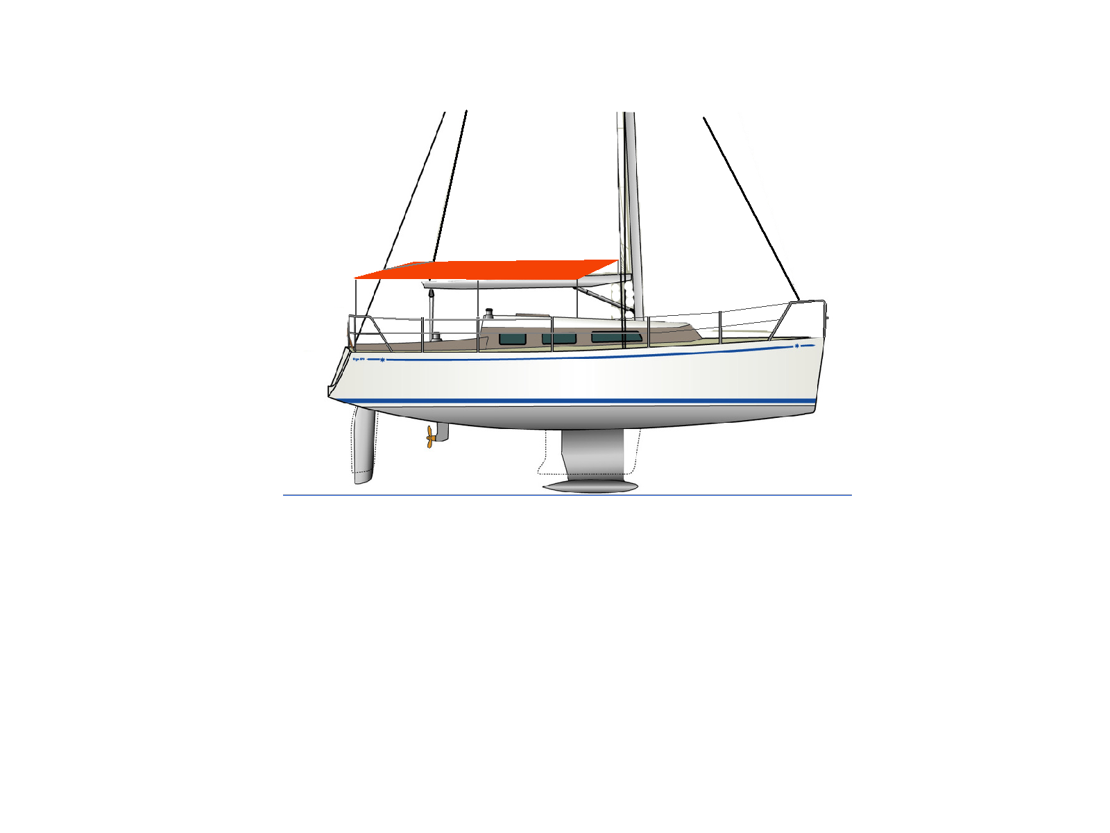 02 04 02 Typ L Segelboot Sonnendach mit Gest nge.PNG